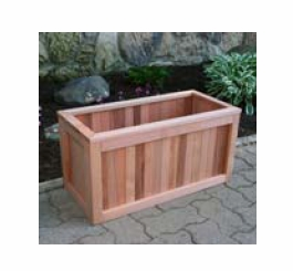 "Greener Garden  Recycled Redwood Planter Box 12""x 24""x 12"""