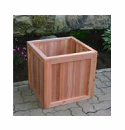 "Greener Garden Recycled Redwood Planter Box 18""x 18""x 18"""
