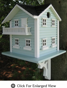 Home Bazaar Beach Haven Birdhouse w/ Mounting Bracket