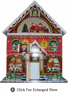 Home Bazaar  Classic Wooden  Advent Calendar