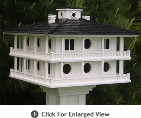 Home Bazaar  Clubhouse Birdhouse For Purple Martins