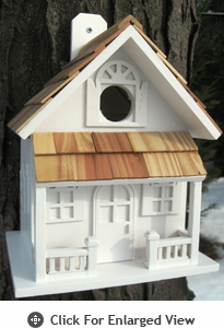 Home Bazaar  Country Cottage  Birdhouse - White