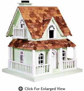 Home Bazaar Hobbit House Green Birdhouse