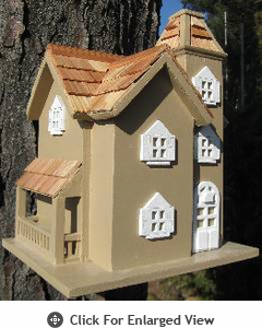 Home Bazaar  Little Manor  Birdhouse - Taupe