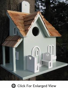 Home Bazaar  Little Retreat  Birdhouse - Colonial Blue