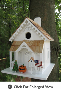 Home Bazaar  Little Seasons Tweetings Birdhouse