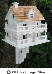 Home Bazaar Novelty Cottage Birdhouse w/ Mounting Bracket