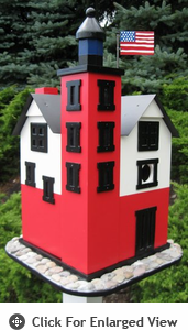 Home Bazaar Round Island Lighthouse Birdhouse