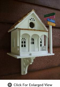 Home Bazaar Sign Post Birdhouse