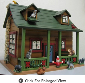 Home Bazaar Woodlands Advent  Calendar Birdhouse