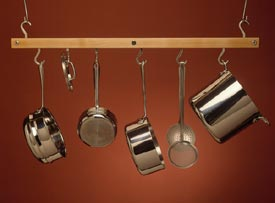 J.K.Adams Ceiling Bar Pot Racks