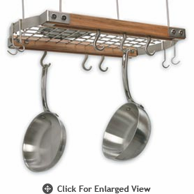 J.K Adams Mini Ceiling Bar Pot Rack