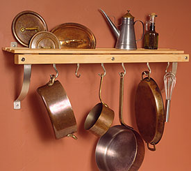 J.K.Adams Wall Mounted Pot Racks