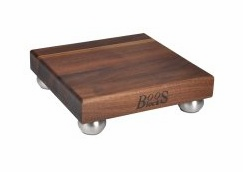 "John Boos Blended Walnut 1-1/2"" Thick Board w/ SS Bun Feet"