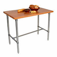 "John Boos  Cucina Classico Cherry  Kitchen Prep Table  48""X30""X1 1/2""-36"""