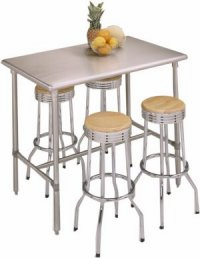 "John Boos Cucina Classico Stainless Table 48"" L x 24"" W x 36"" High"