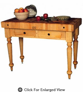 "John Boos Cucina Rustica 48"" L x 24"" W x 4"" Thick Maple Top (End Grain)"