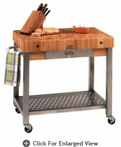 "John Boos Cucina Technica 4 in. Thick Maple Top 24""x24"" (Butcher Block Style)"