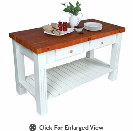 John Boos Grazzi Kitchen Island Cherry End Grain Top