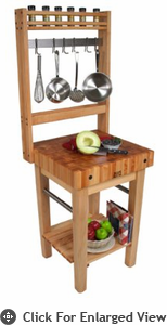 John Boos Pro Prep Block w/ Optional Pot Rack