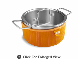 Kuhn Rikon Colori Cook and Serve 3 Quart Orange