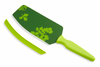Kuhn Rikon Cut & Scoop Flexi Spatula Knife Green w/ Green Print