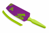 Kuhn Rikon Cut & Scoop Flexi Spatula Knife Purple w/ Green Print