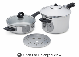 Kuhn Rikon Duromatic Duo Pressure Cooker Set