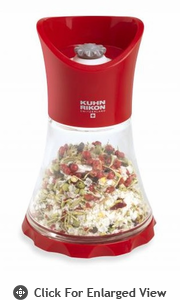Kuhn Rikon Glass Vase Grinder  Red