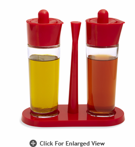 Kuhn Rikon Oil and Vinegar 3 Piece Set Red