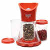 Kuhn Rikon Spice Grinder w/ 3 Containers Red