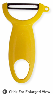 Kuhn Rikon Swiss Peeler w/ Serrated Blade - Yellow