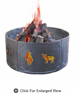 Landmann Fire Pit Big Sky� Fire Ring Wildlife  Black