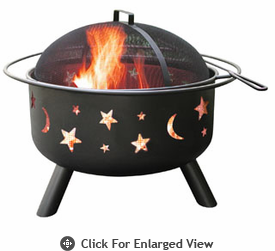 Landmann Fire Pit Big Sky� Stars & Moon - Black