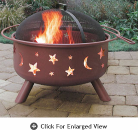 Landmann Fire Pit Big Sky� Stars & Moon - Georgia Clay