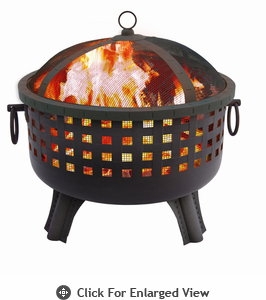 Landmann Fire Pit  Garden Light Series Savannah– Black