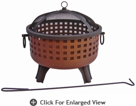 Landmann Fire Pit  Garden Light Series Savannah� Georgia Clay & Black
