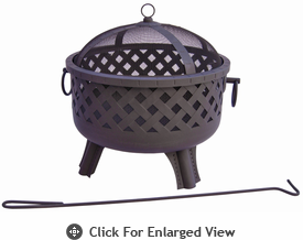 Landmann Fire Pit Garden Lights Series Baton Rouge- Black