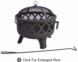 Landmann Fire Pit Garden Lights Series Sarasota- Black