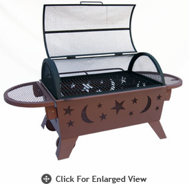 Landmann Fire Pit Northern Lights XT Stars & Moon -Georgia Clay