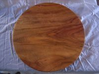 Laurelwood Imports Round Cutting Board With Feet