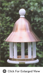 Lazy Hill Farm Bell Bird Feeder w/ Polished Copper Roof