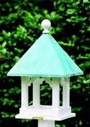 Lazy Hill Farm Square Bird Feeder - White