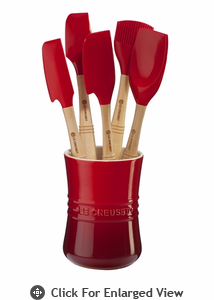 Le Creuset 6 Pc Revolution™ Utensil Set Red