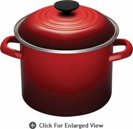 Le Creuset 6Qt Stock Pot Red