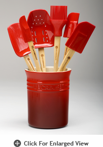 Le Creuset 7pc Spatula Set Red