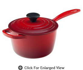 Le Creuset Cast Iron 1 3/4 Qt Precision Pour Saucepan Red