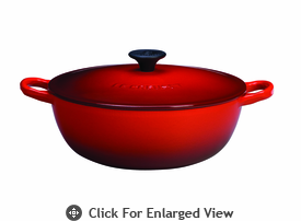 Le Creuset Cast Iron 2.75 Qt Soup Pot Red