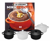 Le Creuset Set of 4 Mini Cocottes w/ Bonus Cookbook Black & White