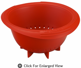 Le Creuset Silicone Berry Colander Red